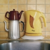 electric kettle on plate