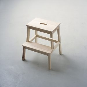 Piece of step stool cut out