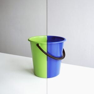 Mirror and two buckets