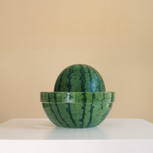 Watermelon in bowl of water