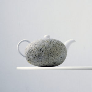 Stone and teapot